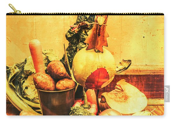 Rustic Vegetable Decor Carry-all Pouch
