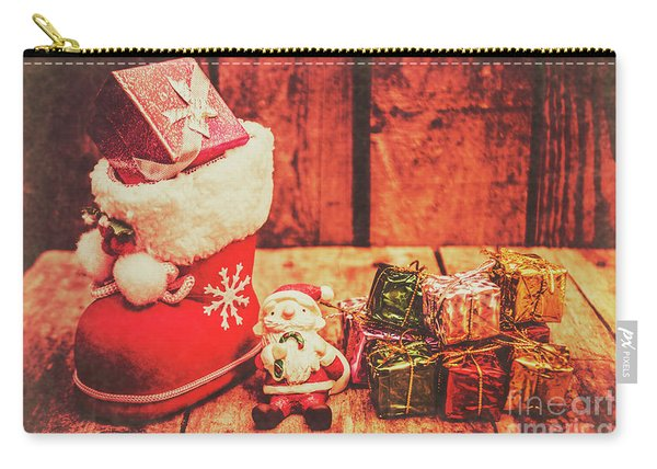 Rustic Xmas Decorations Carry-all Pouch