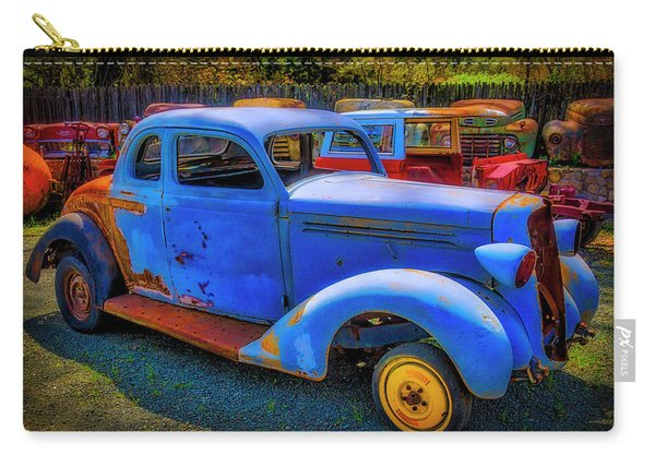 Rusting Blue Car Carry-all Pouch