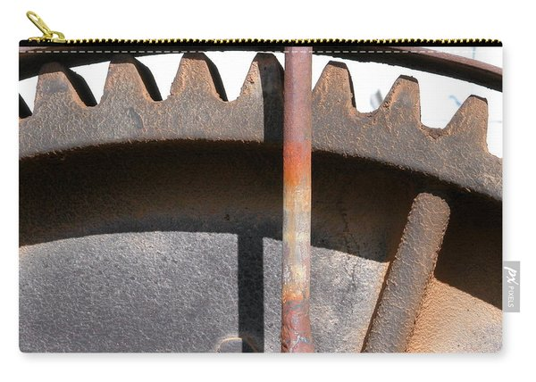 Carry-all Pouch featuring the photograph Rusty Gear by Joseph R Luciano