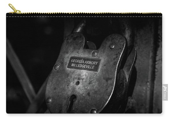 Rusty Lock In Bw Carry-all Pouch
