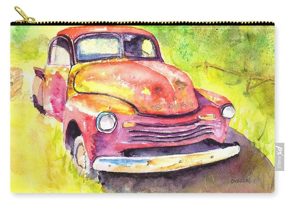 Rusty Old Red Truck Carry-all Pouch