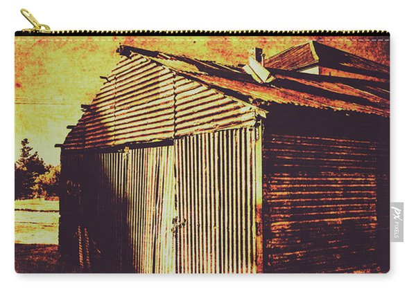 Rusty Outback Australia Shed Carry-all Pouch