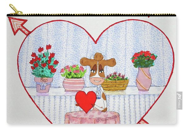 Ruthie-moo Happy Bovinetinesday Carry-all Pouch