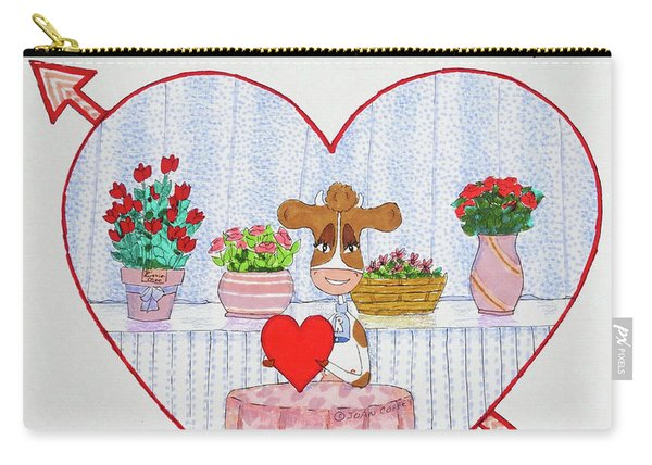 Ruthie-moo Happy Valentine's Day Carry-all Pouch