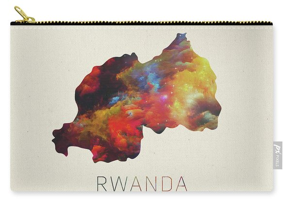 Rwanda Watercolor Map Carry-all Pouch
