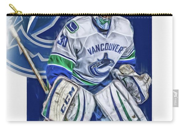Ryan Miller Vancouver Canucks Oil Art Carry-all Pouch