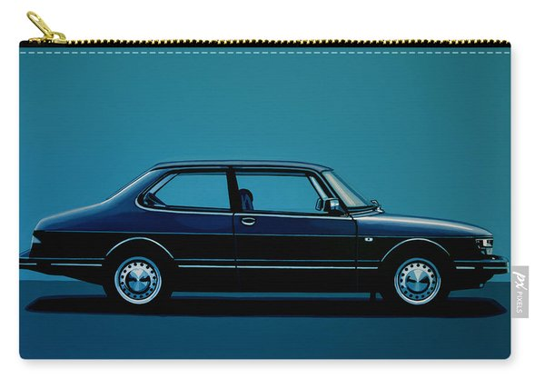 Saab 90 1985 Painting Carry-all Pouch