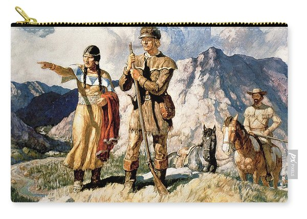 Sacagawea With Lewis And Clark During Their Expedition Of 1804-06 Carry-all Pouch
