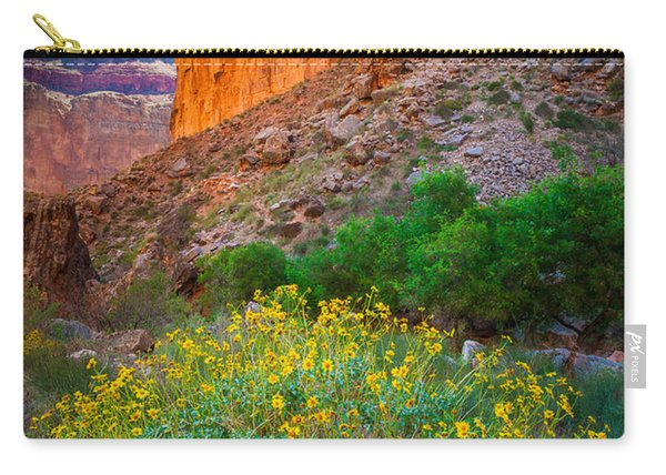 Saddle Canyon Flowers Carry-all Pouch