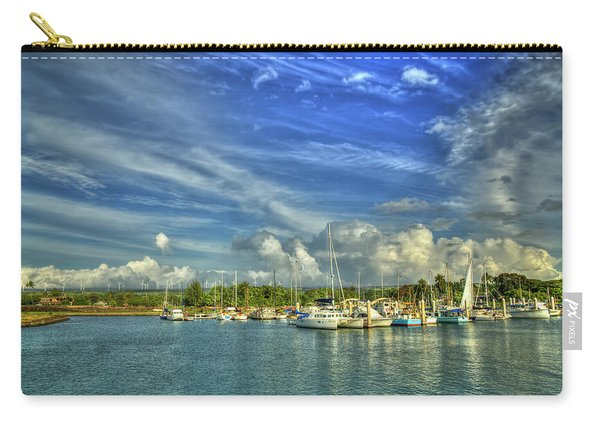 Safe Harbor Haleiwa Small Boat Harbor Hawaii Collection Art Carry-all Pouch