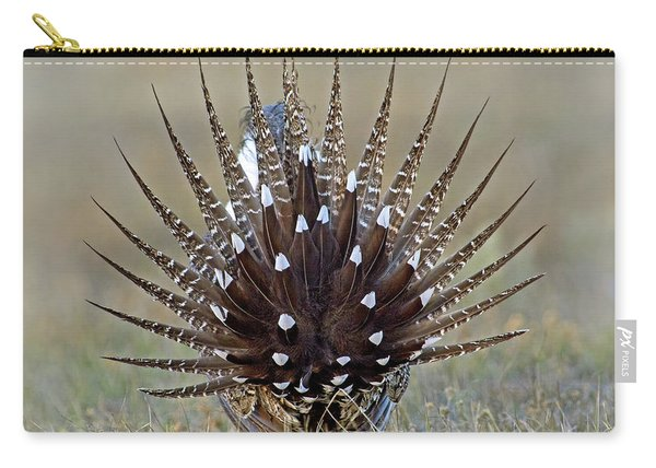 Sage-grouse Tail Fan Carry-all Pouch
