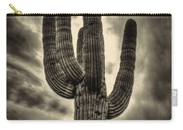 Saguaro And Storm Clouds Carry-all Pouch