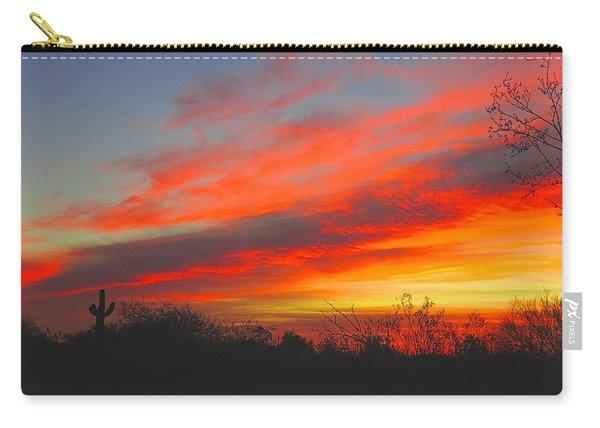 Saguaro Winter Sunrise Carry-all Pouch