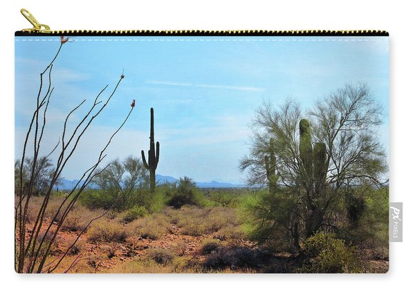 Saguaros In Sonoran Desert Carry-all Pouch