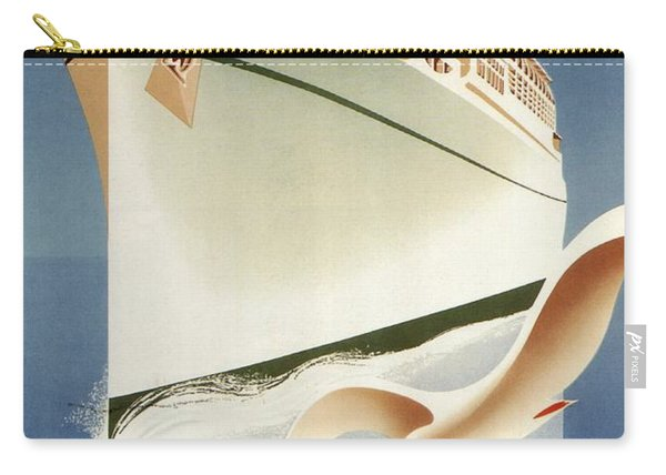 Sail White Empress To Europe - Canadian Pacific - Retro Travel Poster - Vintage Poster Carry-all Pouch