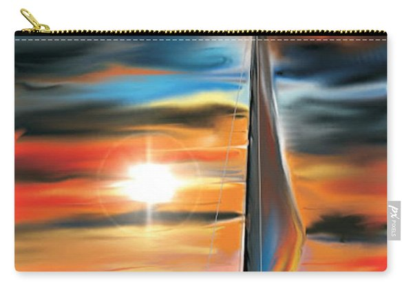 Sailboat And Sunset Carry-all Pouch