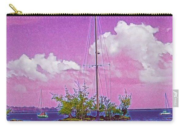 Sailboat At Reeds Bay Hilo Aloha Carry-all Pouch