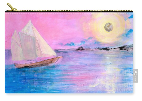 Sailboat In Pink Moonlight  Carry-all Pouch