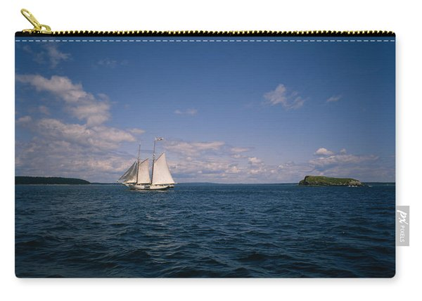 Sailboat In The Sea, St. Maarten Carry-all Pouch