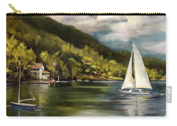 Sailboat On Lake Morey Carry-all Pouch