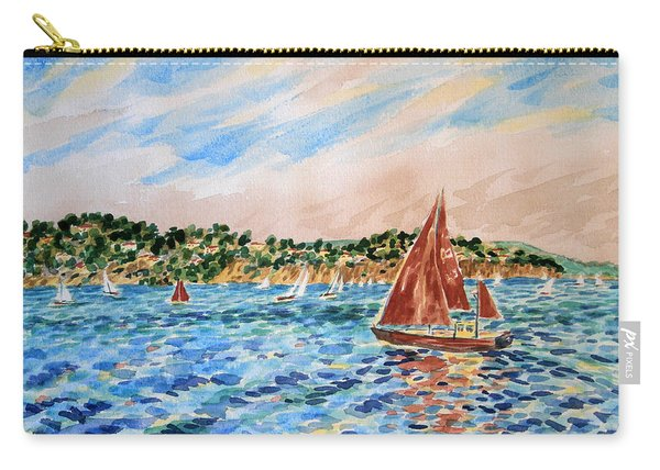 Sailboat On The Bay Carry-all Pouch