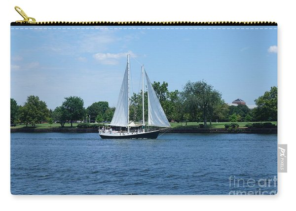 Carry-all Pouch featuring the photograph Sailboat On The Potamac by Jimmy Clark