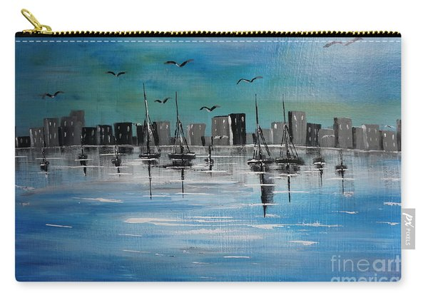 Sailboats And Cityscape Carry-all Pouch