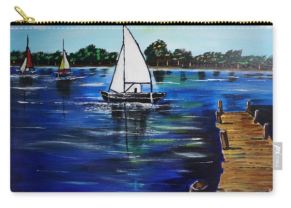 Sailboats And Pier Carry-all Pouch