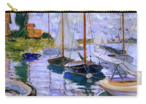 Sailboats On The Seine At Petit Gennevilliers Claude Monet 1874 Carry-all Pouch
