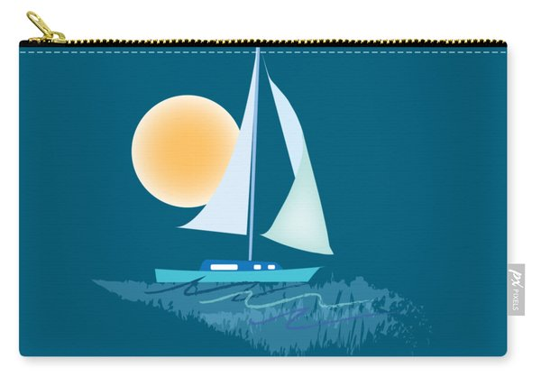 Carry-all Pouch featuring the digital art Sailing Day by Gina Harrison