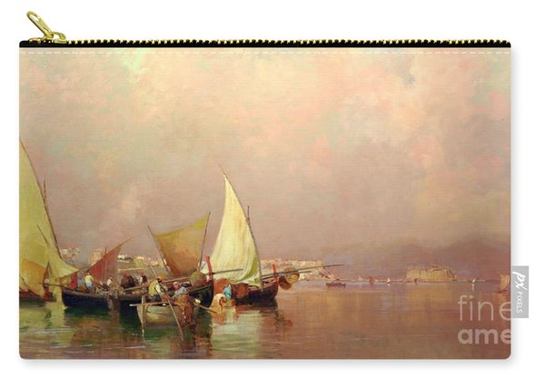 Sailing Fishermen Boats In Naples Carry-all Pouch