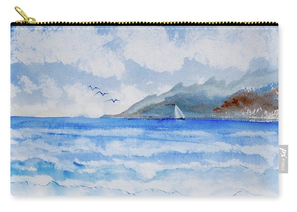 Sailing Into Moorea Carry-all Pouch