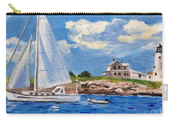Sailing Past Wood Island Lighthouse Carry-all Pouch