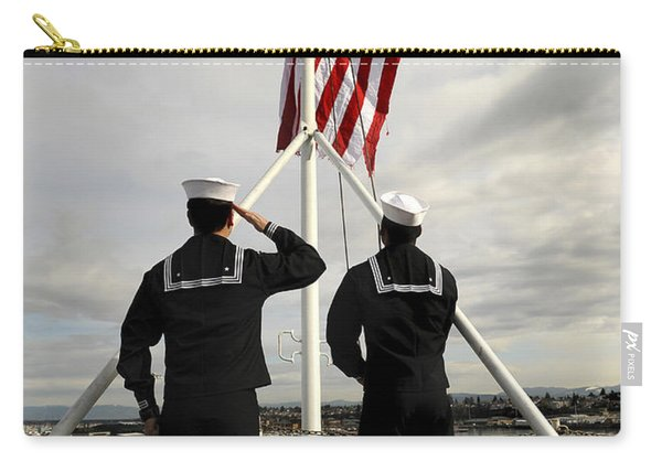 Sailors Raise The National Ensign Carry-all Pouch
