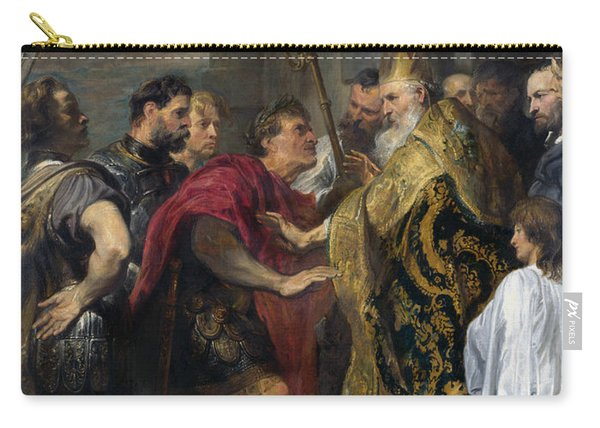Saint Ambrose Barring Theodosius I From Milan Cathedral Carry-all Pouch