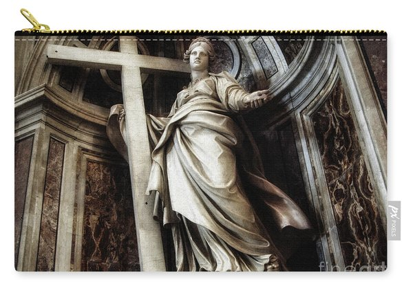 Saint Helena Statue Inside Saint Peter S Basilica Rome Italy Carry-all Pouch