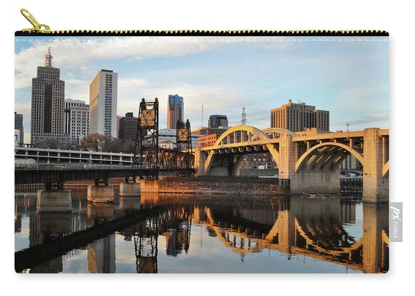 Saint Paul Mississippi River Sunset Carry-all Pouch