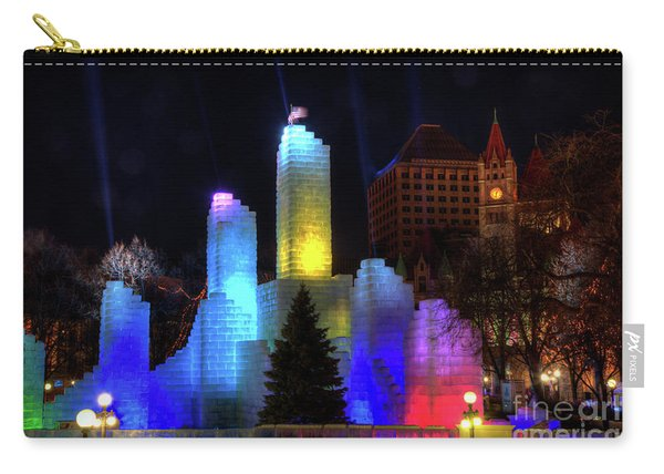 Saint Paul Winter Carnival Ice Palace 2018 Lighting Up The Town Carry-all Pouch