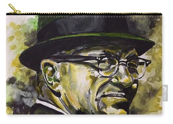 Carry-all Pouch featuring the painting Saint Vince by Joel Tesch