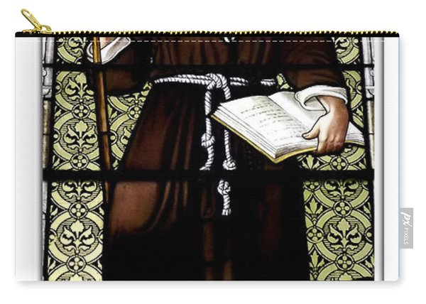 Saint William Of Aquitaine Stained Glass Window Carry-all Pouch