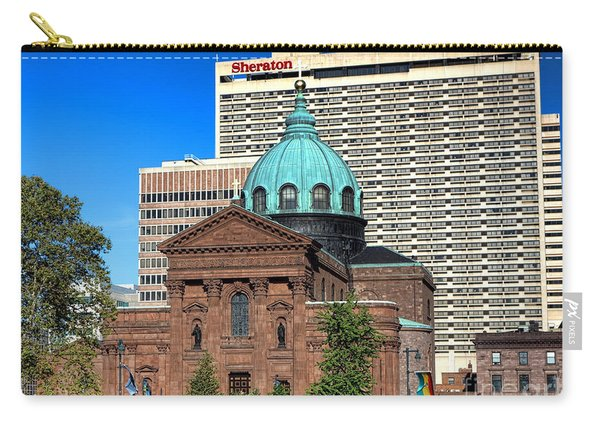 Saints Peter And Paul And Sheraton Hotel In Philadelphia  Carry-all Pouch