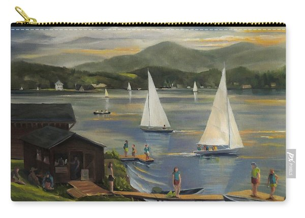 Sailing At Lake Morey Vermont Carry-all Pouch