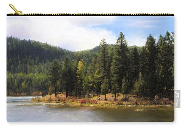 Salmon Lake Montana Carry-all Pouch
