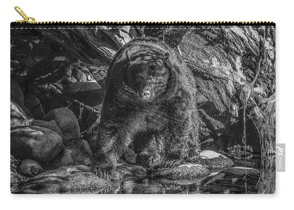Salmon Seeker Black Bear  Carry-all Pouch
