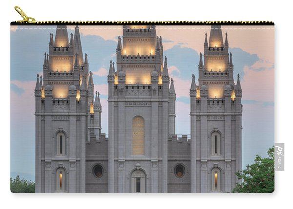 Carry-all Pouch featuring the photograph Salt Lake City Temple Morning by Dustin  LeFevre