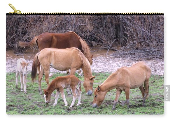 Salt River Wild Horses In Winter Carry-all Pouch