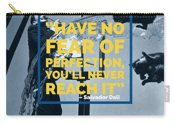 Salvador Dali Perfection Quote Carry-all Pouch