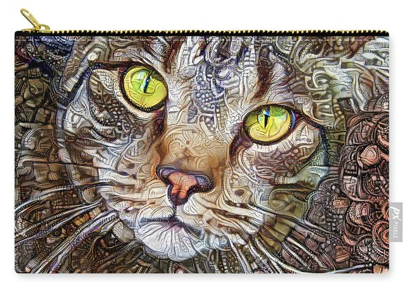 Sam The Tabby Cat Carry-all Pouch