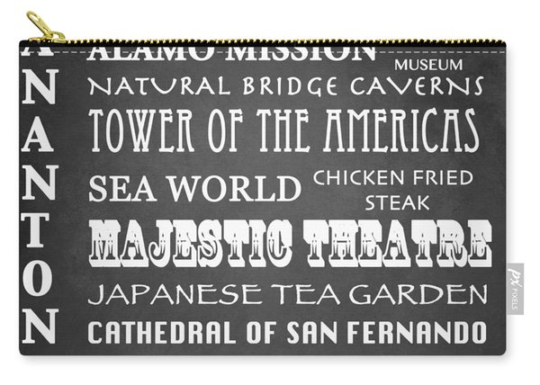 San Antonio Famous Landmarks Carry-all Pouch